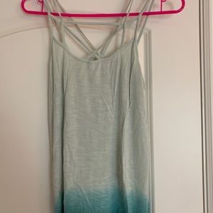 Blue/Teal Ombré Strappy Tank Top